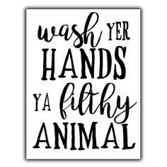 WASH YOUR HANDS - METAL WALL PLAQUE Sign funny humorous bathroom decor print   eBay