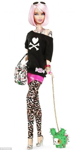 A limited-edition Barbie by Italian brand Tokidoki has given the doll floral and Manga cartoon-style body art across her left arm, neck and chest.