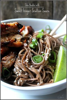Soba Noodles with Sw