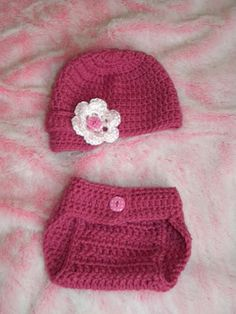 Free crochet hat and diaper cover pattern