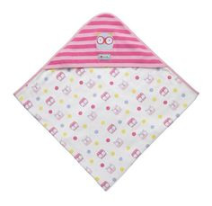 Piccalilly hooded baby shawl - owl - Baby Gift Works