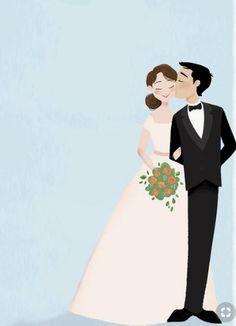 Trendy Wedding Invitations Save The Date Brides Ideas Wedding Drawing, Wedding Art, Trendy Wedding, Wedding Couples, Wedding Ideas, Wedding Illustration, Family Illustration, Couple Cartoon, Wedding Invitation Design