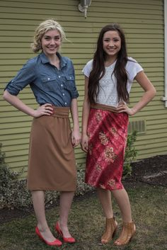 Darling Reversible Skirt! I love the camel color for a casual look and the lace side is so flattering
