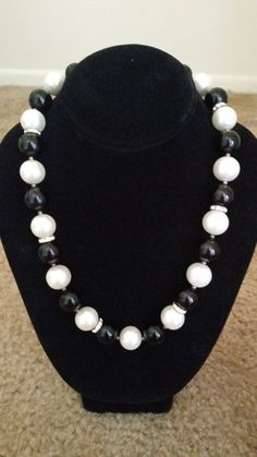 Black and white pearl necklace on Etsy, $20.00