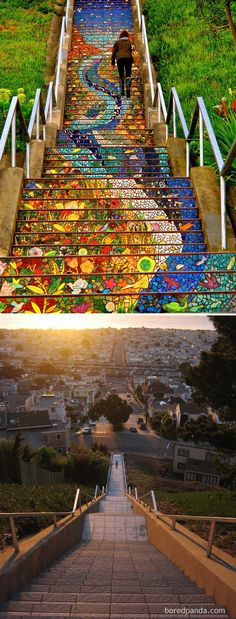 Boring blank canvases become striking works of art on this list of incredible before and after street art transformations.