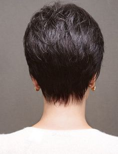 Capless Grey Synthetic The Best Pixie Cut Wigs Short Wigs, Short Pixie, Short Hair Cuts, Short Hair Styles, Pixie Styles, Trendy Haircuts, Haircuts With Bangs, Best Pixie Cuts, Pixie Cut Wig