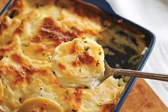 Best scalloped potatoes I've ever made! Super easy to make from scratch - the sauce by itself is a winner and could definitely replace my favourite Alfredo sauce. Next time I make this recipe, I'm going to soften the onions a bit before assembling the casserole.