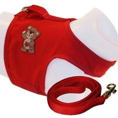 Peitoral Colete e Guia Vermelho AMF Pet - MeuAmigoPet.com.br #petshop #cachorro #cão #meuamigopet