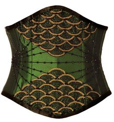 Lady Venom's Jewels Green-Black Corset