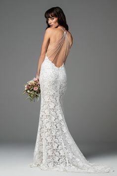 open back wedding dress, interesting back, sexy wedding dress, www.widflowerbridal.com