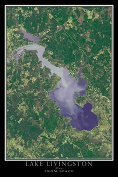 Lake Texoma Texas Oklahoma Satellite Poster Map Texas Lakes - Satellite map of texas