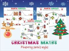 Christmas maths: measuring angles