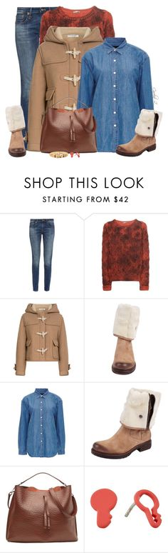 """""""Furry Ankle Boots"""" by carolinez1 ❤ liked on Polyvore featuring R13, Philosophy di Lorenzo Serafini, Manas, Current/Elliott, Maison Margiela and Marc by Marc Jacobs"""