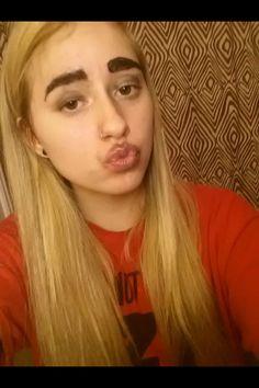 Eyebrows not on fleek.