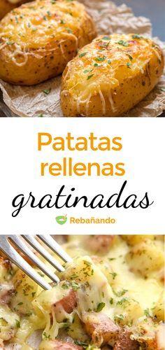 Unas ricas patatas rellenas acompañan perfectamente cualquier plato de carne. El relleno puede variar según tus gustos o el de tus invitados. A continuación, nuestra receta de patatas rellenas explicada paso a paso.