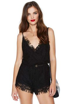 Lace Your Bets Romper | Shop Rompers + Jumpsuits at Nasty Gal
