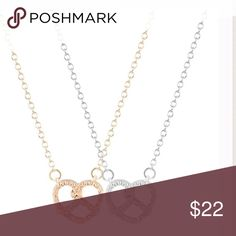 Silver Pretzel Necklace 45 cm.  Only one silver left Jewelry Necklaces