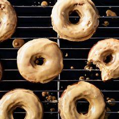 Coffee Doughnuts with Coffee Glaze