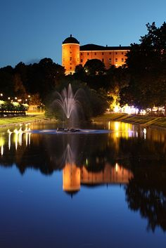 Uppsala castle and the swan pond in front Places Around The World, Oh The Places You'll Go, Great Places, In This World, Places To Travel, Beautiful Places, Places To Visit, Around The Worlds, Stockholm