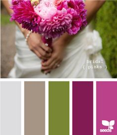 spring purple and green color palette Pantone, Color Magenta, Room Color Schemes, Color Palate, Design Seeds, Pink And Green, Gray Green, Olive Green, Color Splash