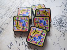 Polymer Clay Beads by TLS Clay Design by TLSClayDesign on Etsy