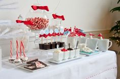 Hot Cocoa Bar Ideas.  Love it, another use for the yummy Fluffy Marshmallow Vodka.