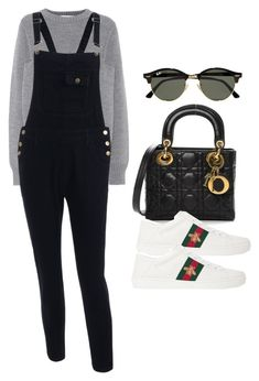 """Sin título #14400"" by vany-alvarado ❤ liked on Polyvore featuring Victoria, Victoria Beckham, Christian Dior, Gucci and Ray-Ban"