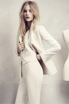 White. Three-piece suit. HM Conscious Collection