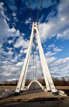 Bridge of Youth or so called white bridge, pedestrian bridge in Osijek #croatia #hrvatska