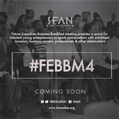 We've had 3 soldout editions and we plan to make the 4th extra special. We got something cool coming people. Just a little bit more.  More info coming at sfanonline.org  #FEBBM4 #SFAN #Branding #Marketing #Career #Mentorship #Business #Idea #Opportunity #Africa #Ghana #AUDay #SDGs #Youth #Leadership #StartUp #Nigeria #Gh #UK #USA #Diaspora by _iamtomchris