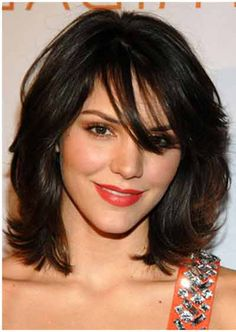Bangs Indian Hairstyles For Round Faces
