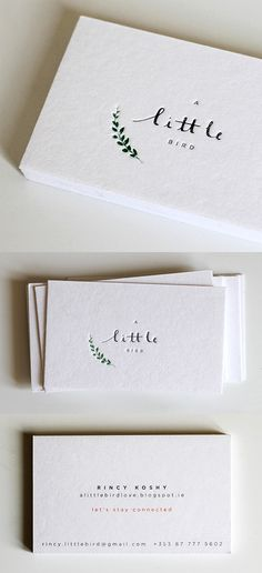 Beautiful Hand Drawn Typography And Illustration On A Minimalist Design Letterpress Business Card ---- design of the information, the way it's places Letterpress Business Cards, Business Branding, Business Design, Creative Business, Corporate Business, Embossed Business Cards, Embossed Logo, Corporate Identity Design, Branding Design