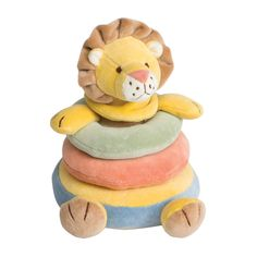 Make baby's first toy the Lion Stacker! Made from organic cotton. | #TeaWelcomeBaby