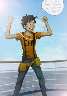 Leo Valdez- Supreme Commander by ~WryFighter on deviantART He sure is lookin' scrawny