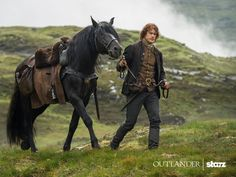 Jamie Fraser and his beautiful horse, Donas. Both of these lovely creatures make my heart go pit-a-pat. :-) #OUTLANDER