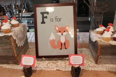 "SHE PAINTED THIS ""F is for Fox"" ART FOR ME!"