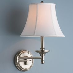 Beyond Classic Swing Arm Wall Lamp matte_nickel