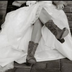 Yes, I wore cowboy boots on my wedding day (: