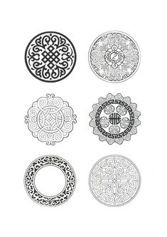 Collection of traditional patterns Chinese Patterns, Ethnic Patterns, Textile Patterns, Motif Oriental, Oriental Pattern, Chinese Design, Chinese Art, Scrapbook Patterns, Diy Furniture Projects