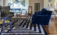 Afbeeldingsresultaat voor navy blue sofa living room