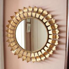 Gran espejo sol dorado