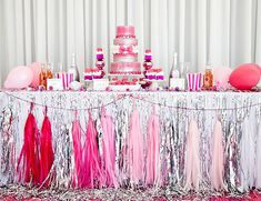 Gorgeous Valentine Sweet Table Idea. See more dessert table ideas on www.prettymyparty.com.