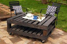 Table de jardin en palette / Garden table pallets