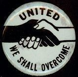 1963-64 WE SHALL OVERCOME Historic Pinback Button by therpsajik