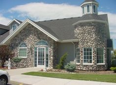 Rolled River Rock | Kodiak Mountain Stone Stone Gallery, Manufactured Stone, Rolls, Mountain, River, Mansions, House Styles, Home Decor, Mansion Houses
