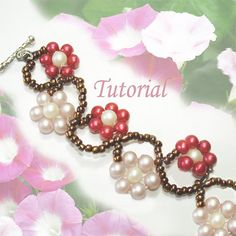 In this tutorial you'll learn how to make a beaded meandering ipomoeas vine bracelet with pearl and seed beads. Beading is made easy with these step-by-step instructions and full color illustrations.  Ipomoeas, more commonly known as morning glories, are twining climbing plants. The plant produces heavenly striking, showy blooms that could last through many years. This bracelet resembles the everlasting beauty of its flowers and the mostly perennial species. This representation is presented…