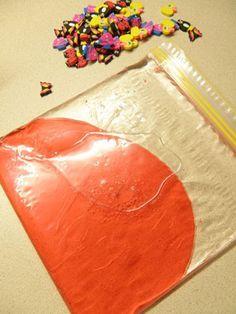 Bolsas de cierre zip rellenas de gel, aceite de bebé, pintura, crema de afeitar...¡geniales!