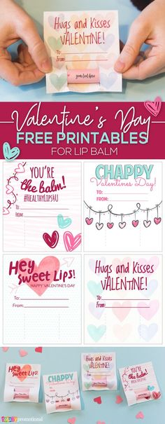 Our FREE Lip Balm Valentine cards make the cutest & most thoughtful Valentine's Day gifts! Create a lip balm/chapsick valentine holder with our free printables & DIY custom lip balm for Vday! We offer a quick & easy guide on how to create these, check it out!