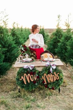 Christmas Tree Farm Style Shoot http://whimsicalwonderlandweddings.com www.girlfridaycompany.com www.sistersvintageparty.com www.loriblythephotography.com