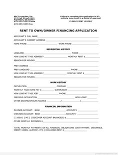 real estate registration application form